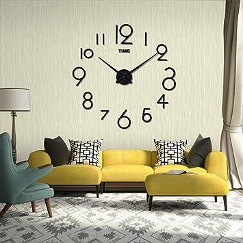 Wanduhr digitale Funk-Wanduhr stumme Bewegung Wohnzimmer DIY 3D Home ...