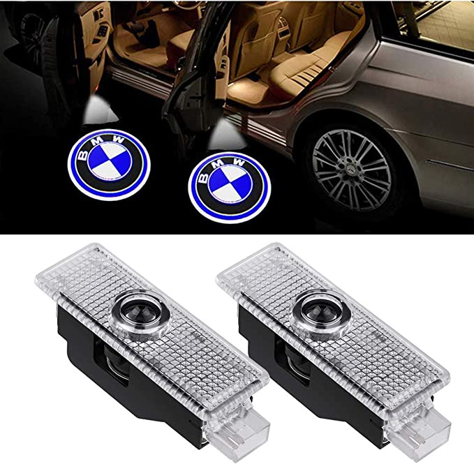 LED Car Door Light Projector Courtesy LED Laser Welcome Lights Ghost Shadow Light Logo Compatible with Accessories X1//X3//X4//X6//3//4//5//6//7//Z//GT Series +Small Screwdriver 4 Pack