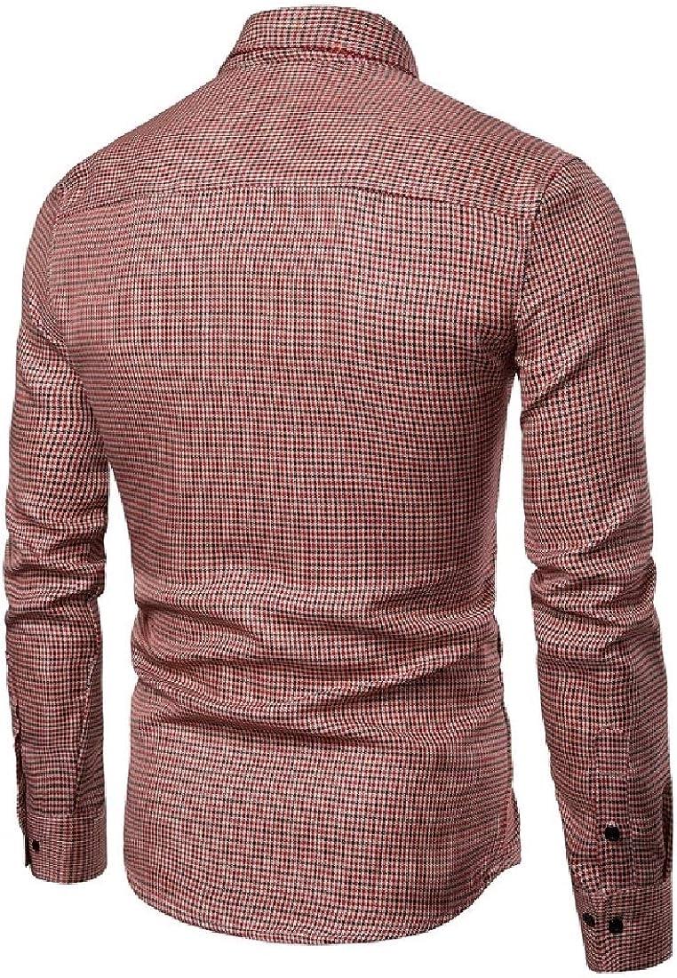 YUNY Men Jacket Tops Plaid Outerwear Business Fall//Winter Sport Shirt Two XS