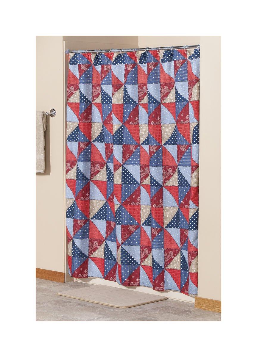 Amazon.com: Americana Shower Curtain: Home & Kitchen