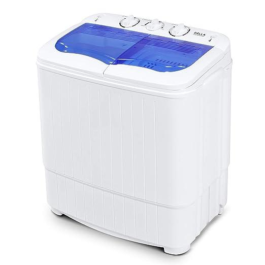 DELLA Mini Lavadora eléctrica Home Twin Tub 8.8 libras Portable ...