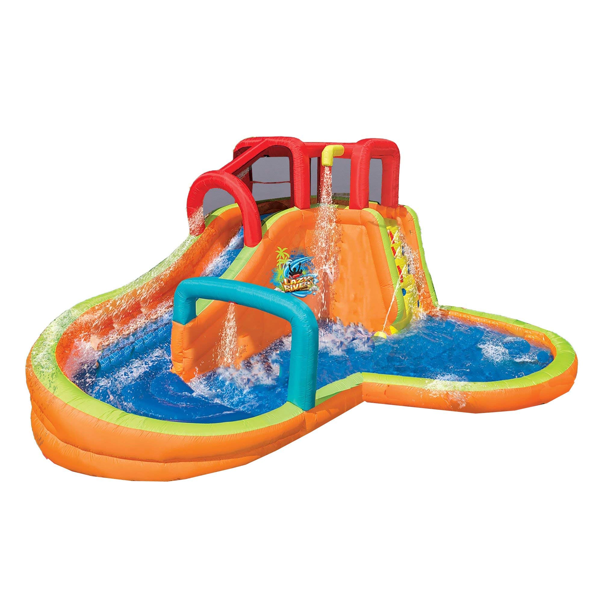 BANZAI Kids Inflatable Outdoor Lazy River Adventure Water Park Slide and Pool by BANZAI (Image #1)