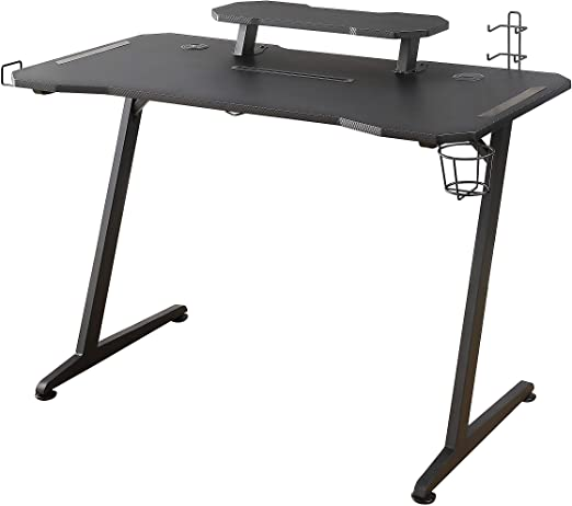 Woxter Stinger Gaming Desk Elite – Mesa Gaming de Escritorio, Leds ...