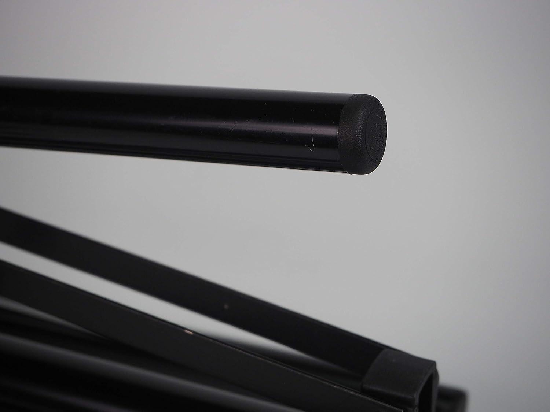 NEGRO Sanfor 75056 Paquete 25 Contera redonda interior estriada 16mm