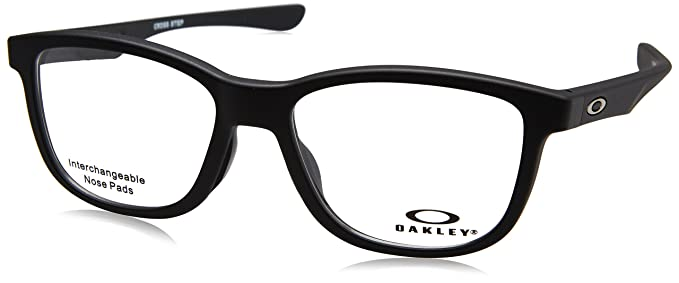 9a5af276454 Image Unavailable. Image not available for. Colour  Oakley CROSS STEP OX  8106 SATIN BLACK TRUBRIDGE NOSEPADS unisex Eyewear Frames