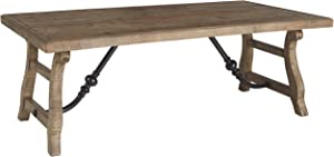 Signature Design by Ashley - Dazzelton Rustic Wood Coffee Table, Brown
