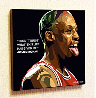 bb376dbbd5d Dennis Rodman NBA Backetball Motivational Quotes Wall Decals Pop Art Gifts  Portrait Framed Famous Paintings on