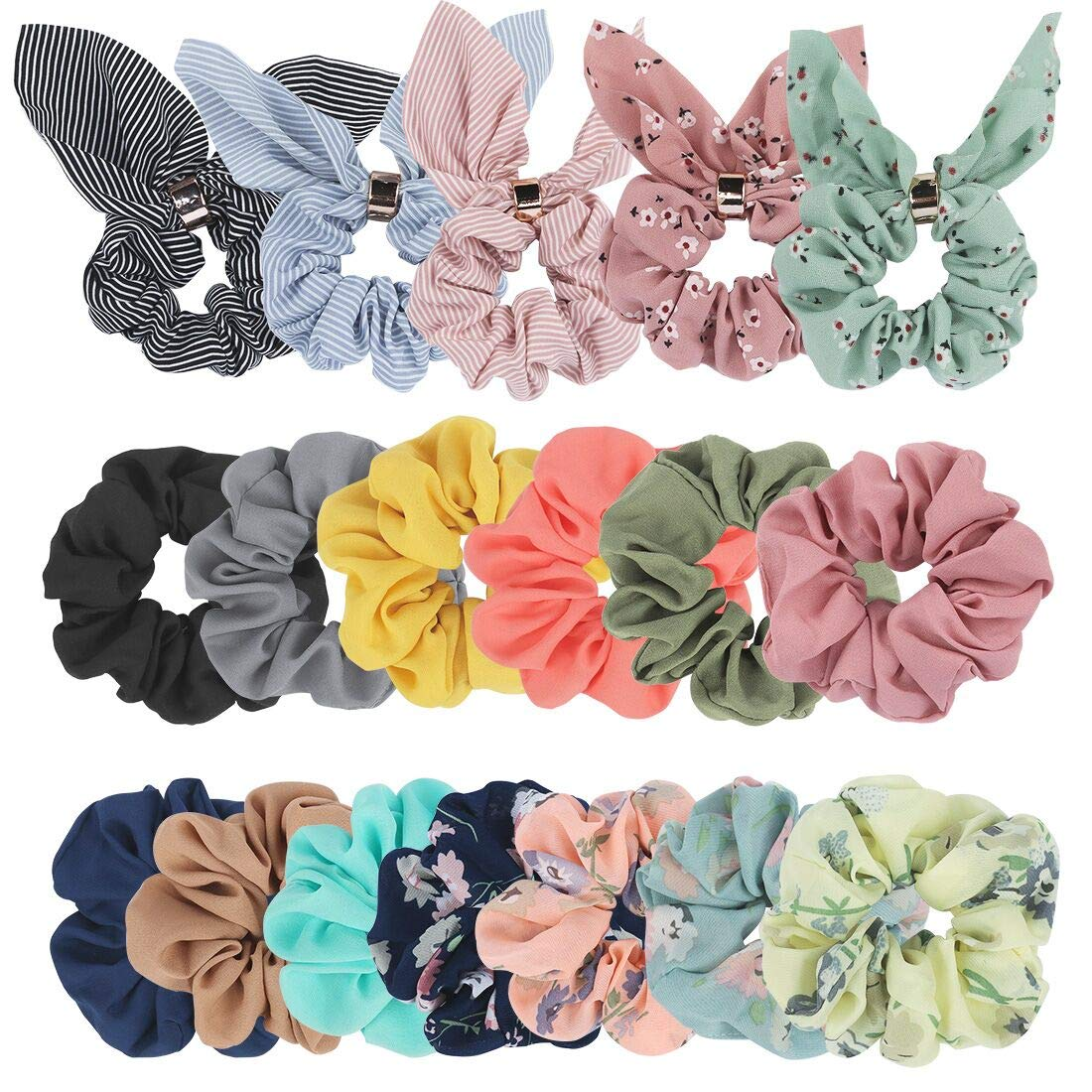 Ondder 10 Pack Scrunchies for Hair with Bow, Hair Scrunchies, Silk  Scrunchies, Satin Scrunchies, Bow Scrunchies for Hair, Hair Scrunchies for  Women,