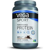 Vega Sport Protein Powder Mocha (19 Servings, 1.78 lb) - Plant Based Vegan Protein Powder, BCAAs, Amino Acid, tart cherry, Non Dairy, Gluten Free, Non GMO