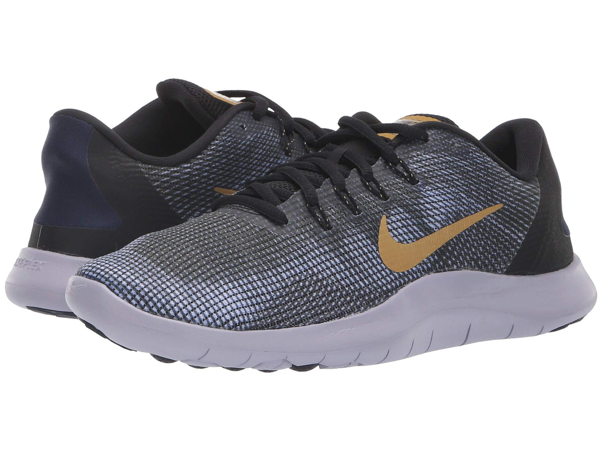 3a5fdcb147b Galleon - NIKE Women s Flex RN 2018 Running Shoe Black Metallic Gold  Obsidian Size 9 M US