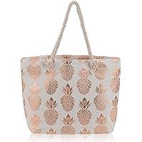 Pineapple Tote Bag Large Women Canvas Tote Bag Beach Bag Travel School Handbag Shoulder Bag Shopping Bag with Rope Handles for Women Girls Travel Daily Beach