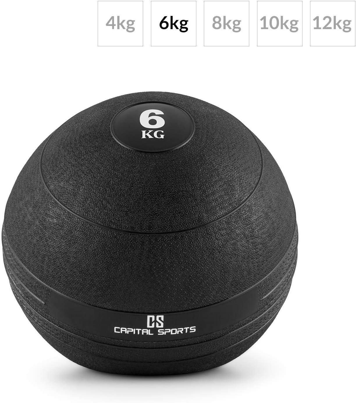 CAPITAL SPORTS Groundcracker Pelota de peso 6kg (Balón medicinal ...