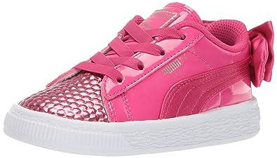 outlet store 6c402 26e1c PUMA Kids' Basket Bow Sneaker