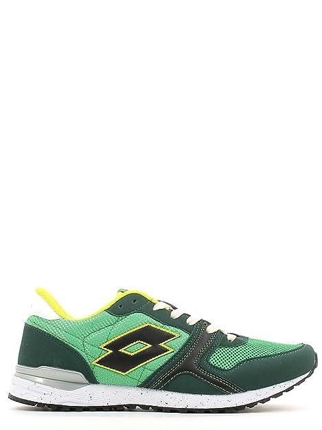 hombre LOTTO bajas zapatillas de deporte S3301 RECORD VII 42 Verde NDOYZM1l