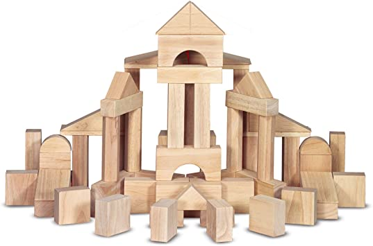 Melissa Doug Standard Unit Solid Wood Building Blocks With Wooden Storage Crate Developmental Toy 60 Pieces Great Gift For Girls And Boys Best
