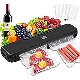 Vacuum Sealer Machine, NEUFLY Automatic Waterproof Food Sealer for Food Preservation with 15 Vacuum Sealer Bags, Dry & Moist