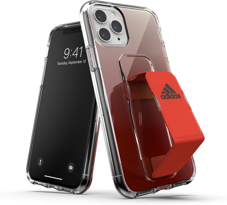 Apariencia consonante disfraz  Amazon.com: adidas Sports Designed for iPhone 11 Pro Clear Case with Grip  Stand - Solar Red