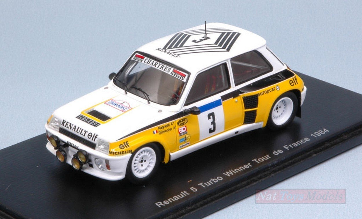 SPARK MODEL S3863 RENAULT 5 TURBO N3 TOUR DE FRANCE 1984 RAGNOTTI-THIMONIER 1:43: Amazon.es: Juguetes y juegos