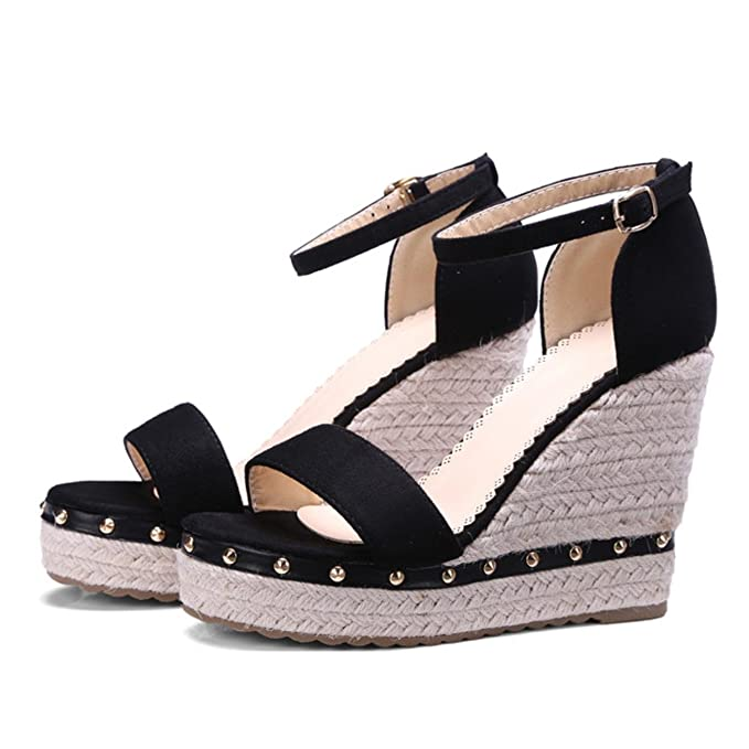 086bb7f79a2f4e Image Unavailable. Image not available for. Color  Meotina Women Sandals  Summer 2018 Platform ...
