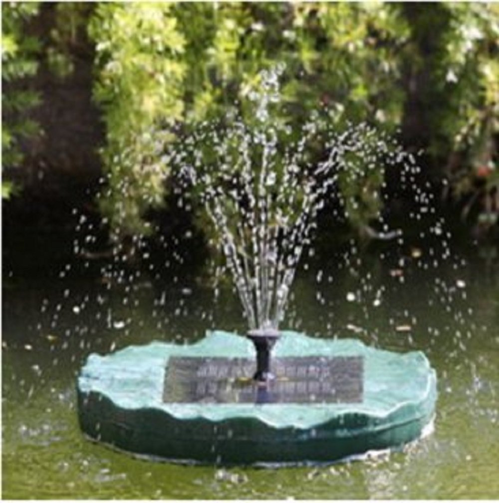 Solar Powered Floating Lily Pad Water Fountain