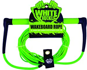 "White Knuckle Wakeboard Rope 15"" Leather Grip w/ 70' dyneema Mainline"