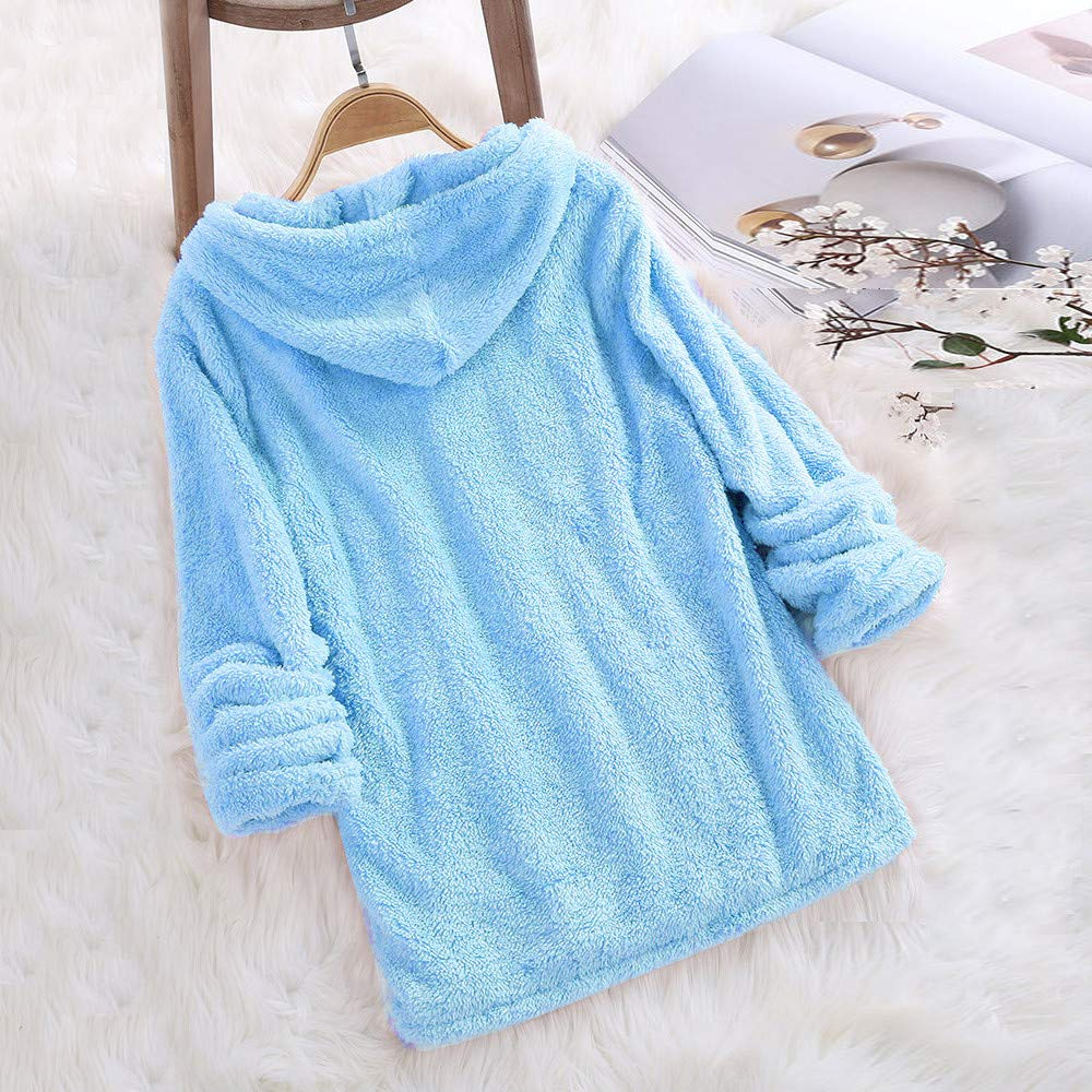 Beauty Top Polaire Femme Sweatshirt Manches Longues Peluche Sweat a Capuche Hiver Couleur Sweat Tops Chemisier Chaud Pull Solid Pullovers Hoodie Patchwork Pulls Blouse Gilet Sweat