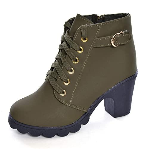 eab656e37fa Womens Ankle Boots Lace Up High Heel Comfort Fashion Buckle Martin Boots  Autumn Winter Womens Shoes