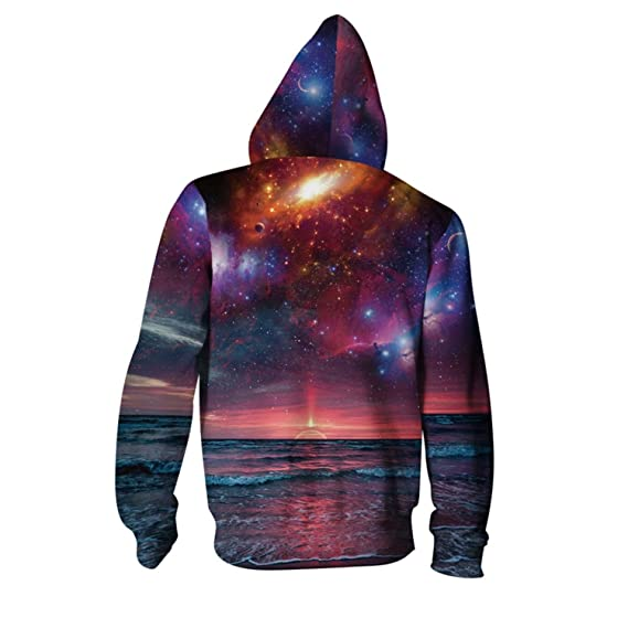 Matterin Christiao New Hoodies Men Sudaderas Hombre 3D Printed Galaxy Hooded Zipper Hoodie Sweatshirt Casual Pullovers at Amazon Mens Clothing store: