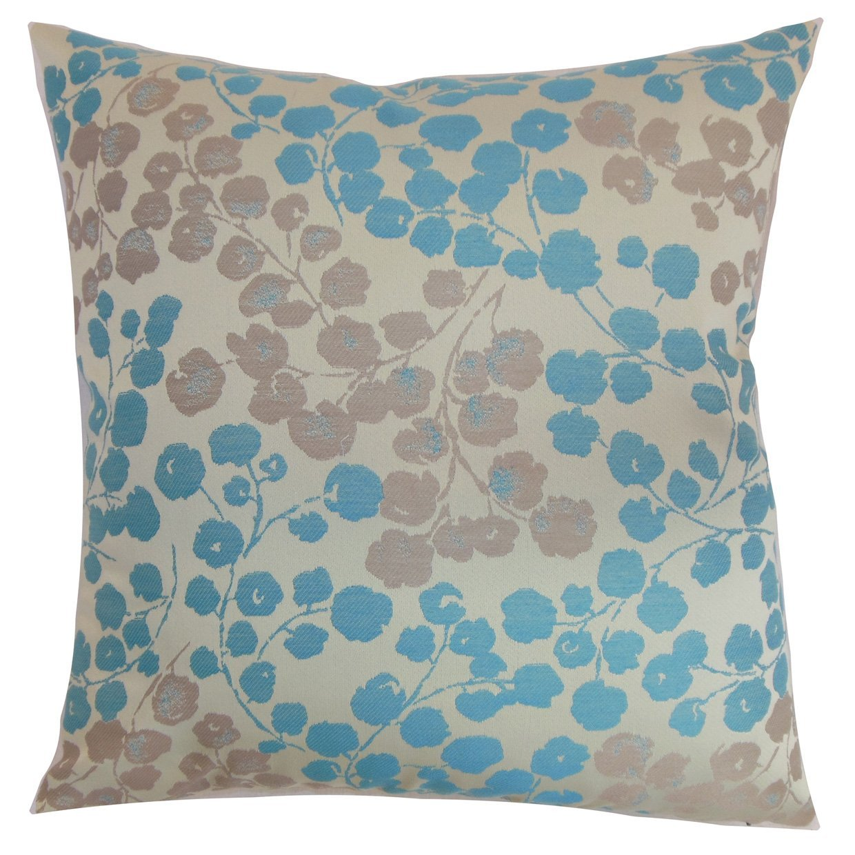 The Pillow Collection Reynosa Floral Bedding Sham Blue Haze Standard//20 x 26