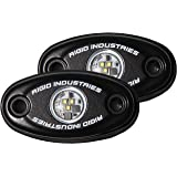 Rigid Industries 48209 A-Series Cool White High Strength LED Light with Frame, (Set of 2)