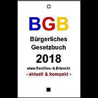 BGB: Bürgerliches Gesetzbuch 2018 (German Edition)
