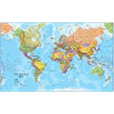 Environmental graphics giant world map wall mural dry for Dry erase world map wall mural