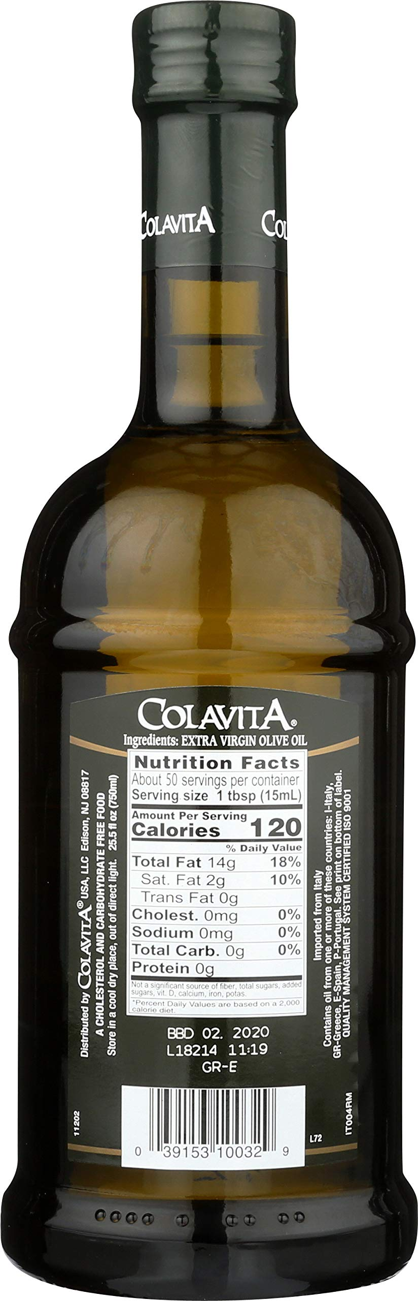 Colavita Extra Virgin Olive Oil, First Cold Pressed, 25.5 fl. oz., Glass Bottle by Colavita (Image #2)