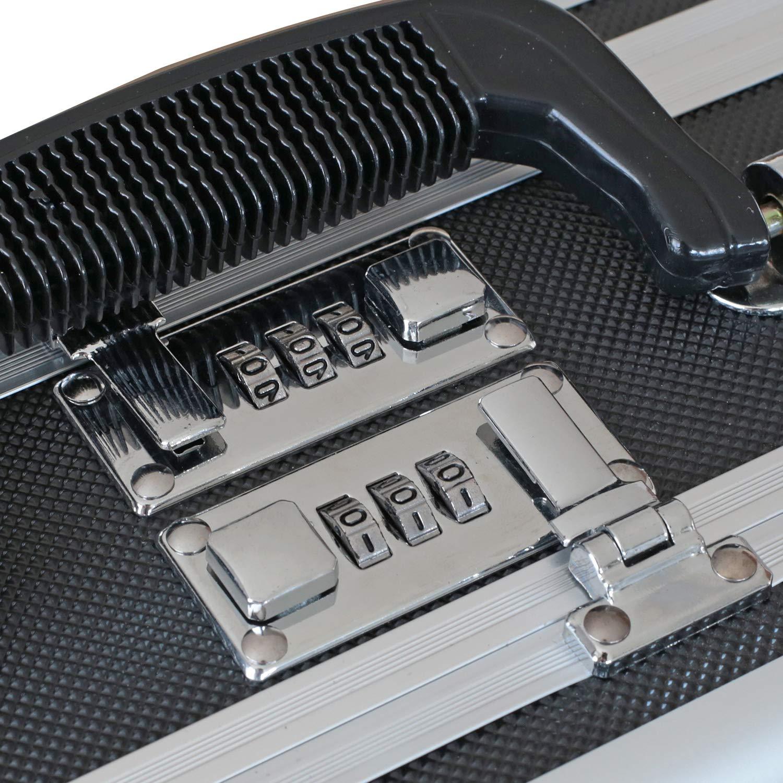 31 x 15,2 x 26 cm HMF 14411-02 Maleta para Armas con Cerradura de Combinaci/ón Pistolas Maleta Doble Fondo Malet/ín Universal