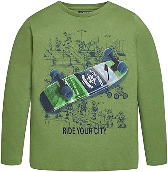 Mayoral, niño, Camiseta de Manga Larga, 7041, Verde Verde 166 cm ...