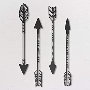 Northshire Metal Wall Decor, Arrows Metal Wall art, Black Wall Decor Bathroom Decor, Bedroom Decor and Kitchen Wall Decor, Wall Decorations for Living Room