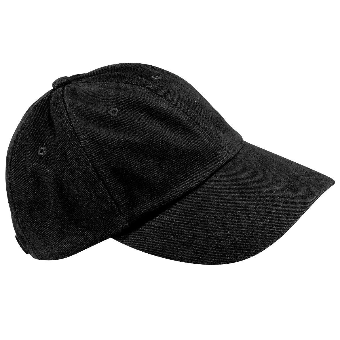 Low profile heavy brushed cotton cap COLOUR Black ONE SIZE