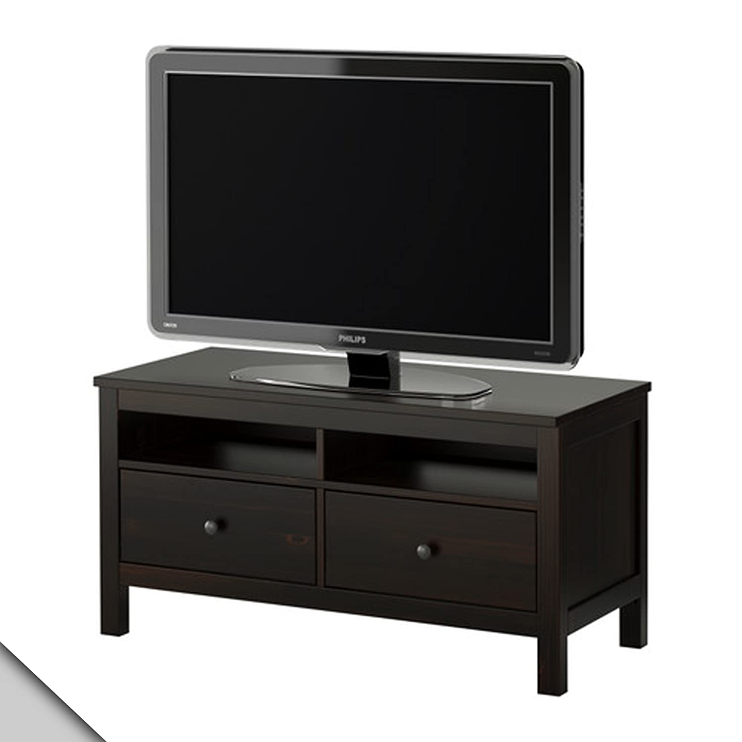 ikea hemnes tv unit black brown electronics
