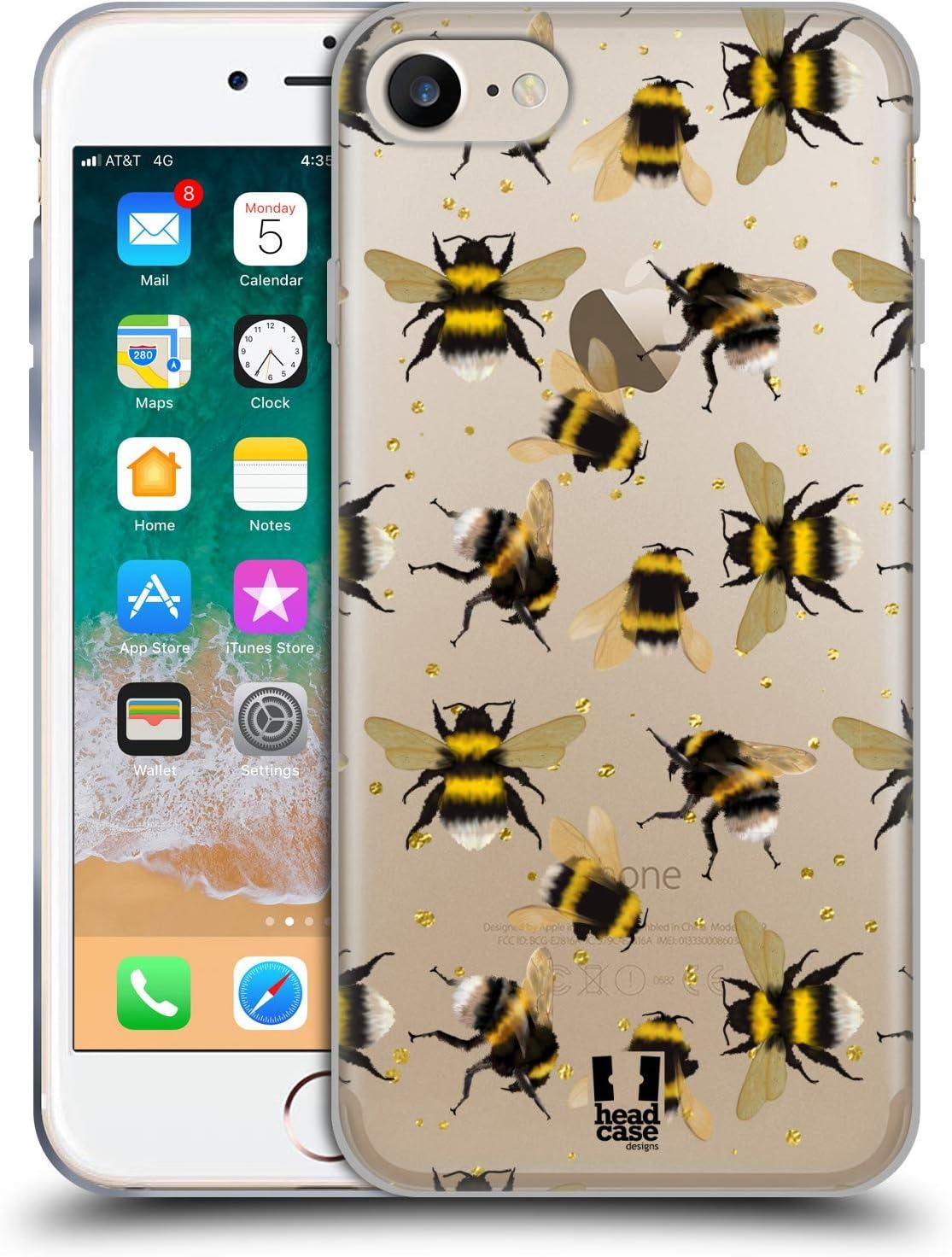 Head Case Designs Muster Bienen Soft Gel Handyhülle Elektronik