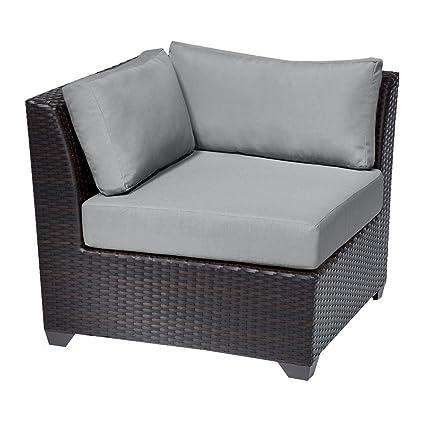 Amazon.com: TK Classics Barbados sofá de esquina, gris ...