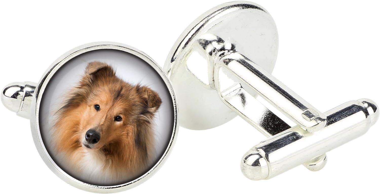 Collie Cufflinks and Tiepin Box Photo-Jewelry Art Dog Ltd Jewelry for Men