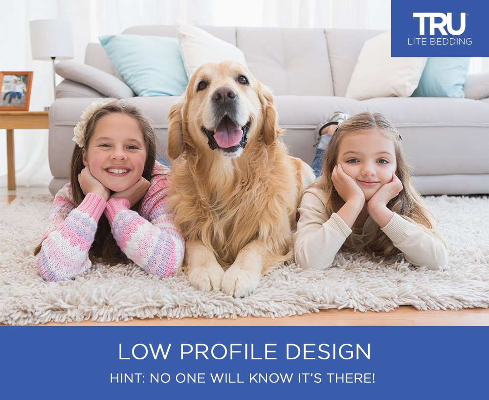 TRU Lite Rug Gripper - Non-Slip Rug Pad for Hardwood Floors - Non Skid Washable Furniture Pad - Lock Area Rugs, Mats, Carpets, Furniture in Place - Trim to fit Any Size - 2' x 8' by TRU Lite Bedding (Image #7)