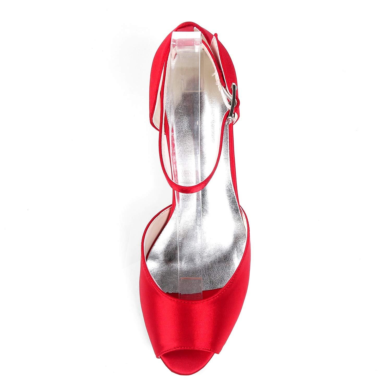 Layearn Frauen Frauen Frauen Hochzeit Schuhe Schnalle Peep Toe 35-43 High Heels Abendkleid Stiletto   6cm Ferse  8f3013