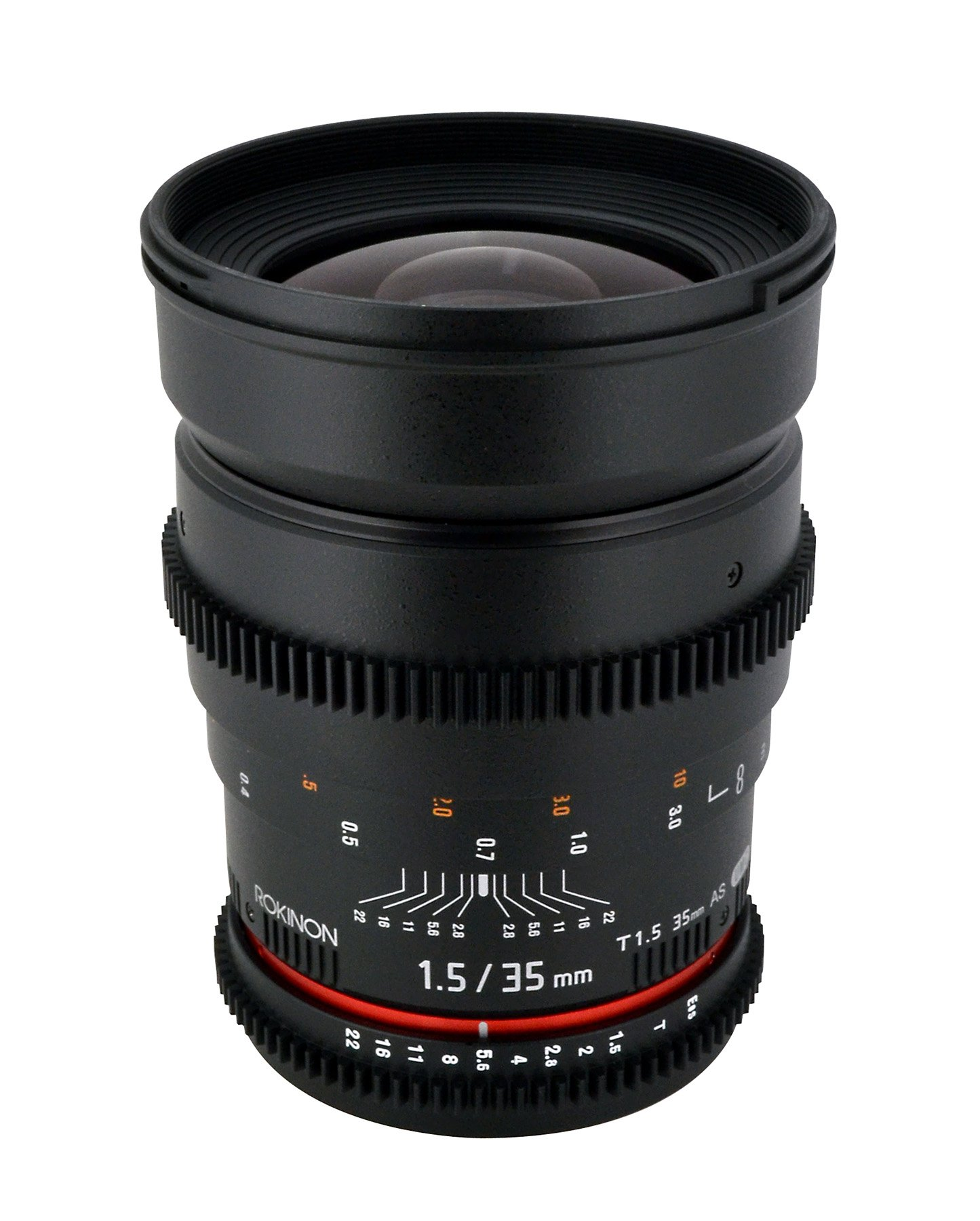 Rokinon Cine CV35-C 35mm T1.5 Aspherical Wide Angle Cine Lens with De-Clicked Aperture for Canon EOS DSLR 35-35mm, Fixed-Non-Zoom Lens by Rokinon (Image #4)