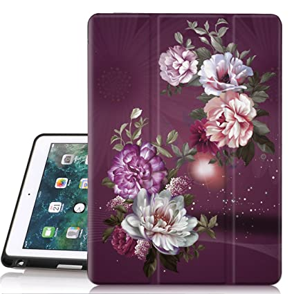 4f9d1091125c Hocase iPad 6th/5th Generation Case, Trifold Folio Smart Case with Apple  Pencil Holder, Auto Sleep/Wake Feature, Soft TPU Back Cover for iPad ...