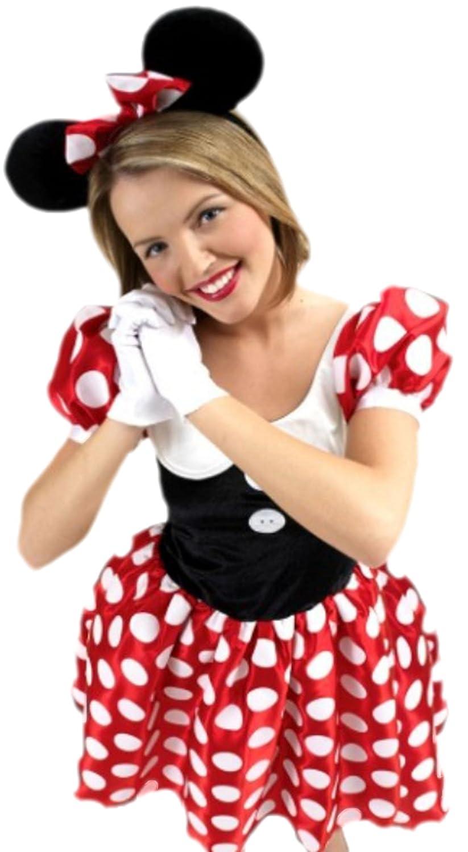 Confettery - Damen Minnie Mouse Maus Kostüm , M, Mehrfarbig