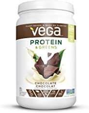 Vega Protein & Greens Chocolate (19 Servings, 1.36 lb) - Plant Based Protein Powder, Keto-Friendly, Gluten Free, Non Dairy, V