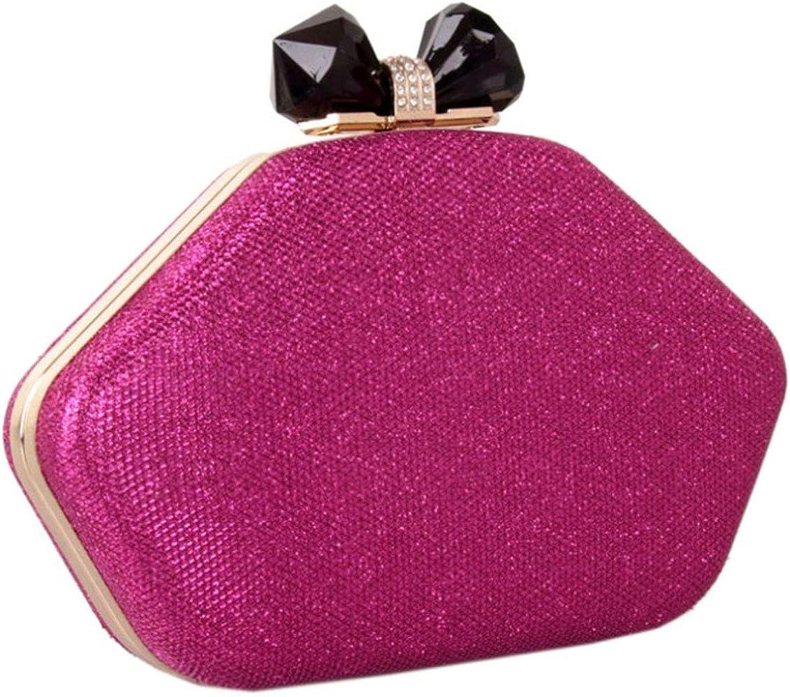 Bettyhome Women Shiny Rhinestone Lips Evening Bag Party Handbags Wedding Clutches Purse