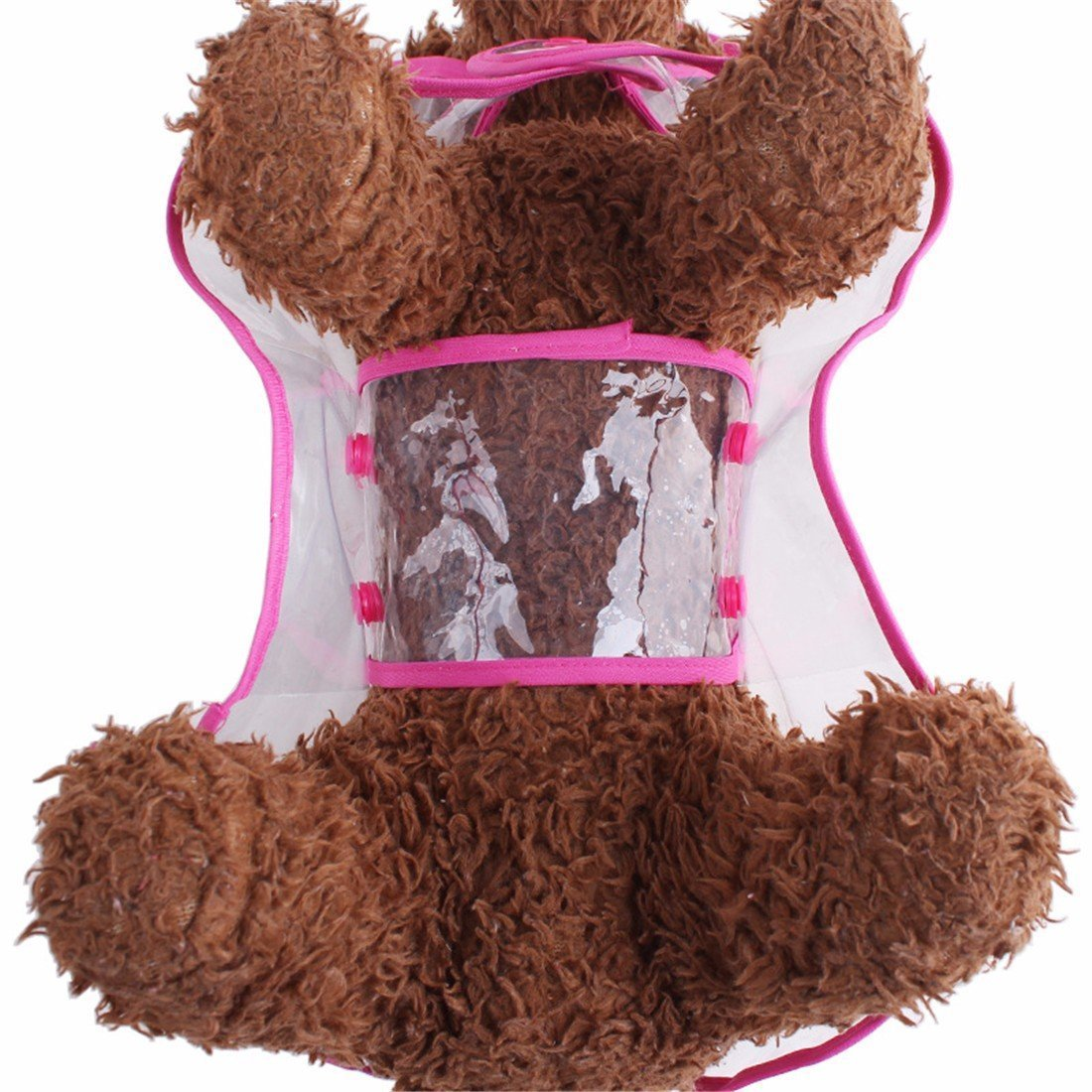 zoonpark/® Mascota Perro Chubasquero Poncho perro cachorro mascota ligero impermeable Teddy transparente pl/ástico Poncho chubasquero para peque/ño o mediano Perros