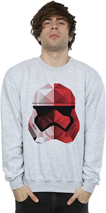 Star Wars Hombre The Last Jedi Stormtrooper Red Cubist Helmet Camisa De Entrenamiento